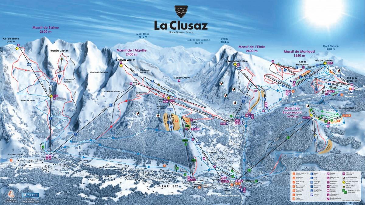 Domaine skiable la Clusaz