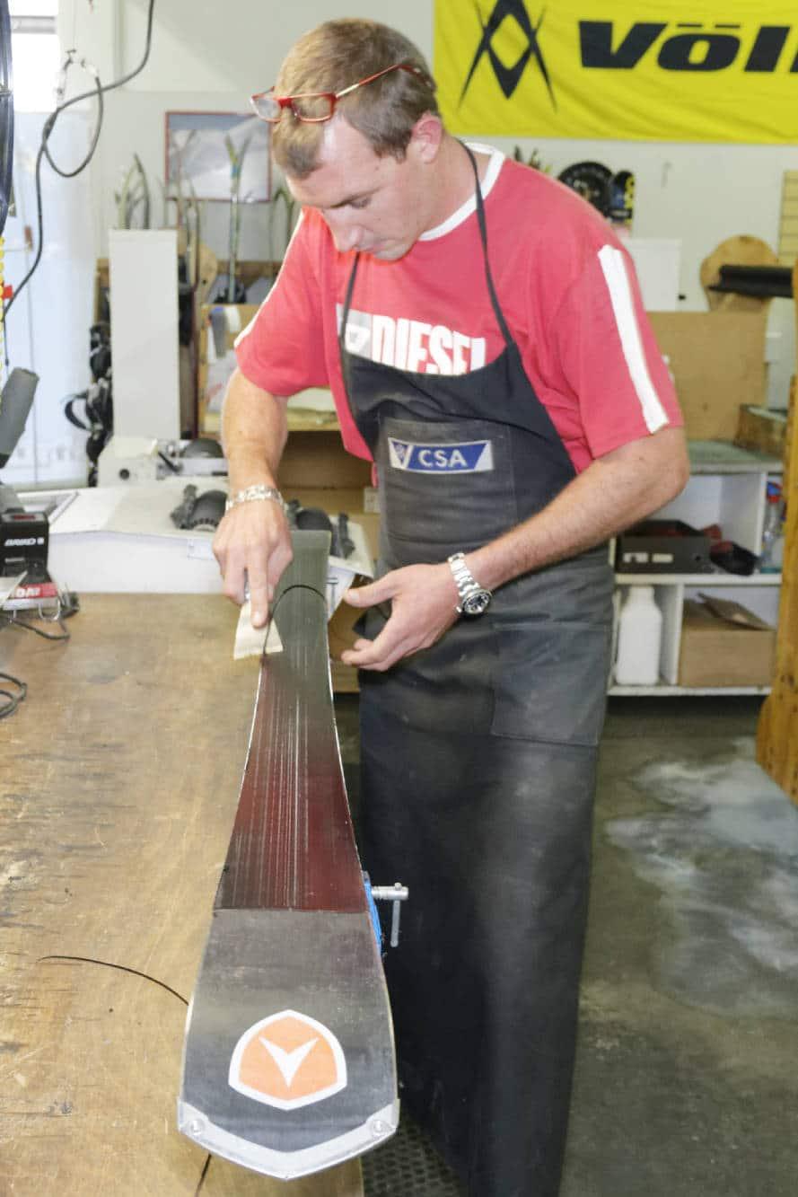 entretien des skis - remis à neuf - atelier - Bossonnet pro shop